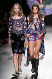 Taylor Hill Walks Anna Sui Show - New York Fashion Week 09/11/2017