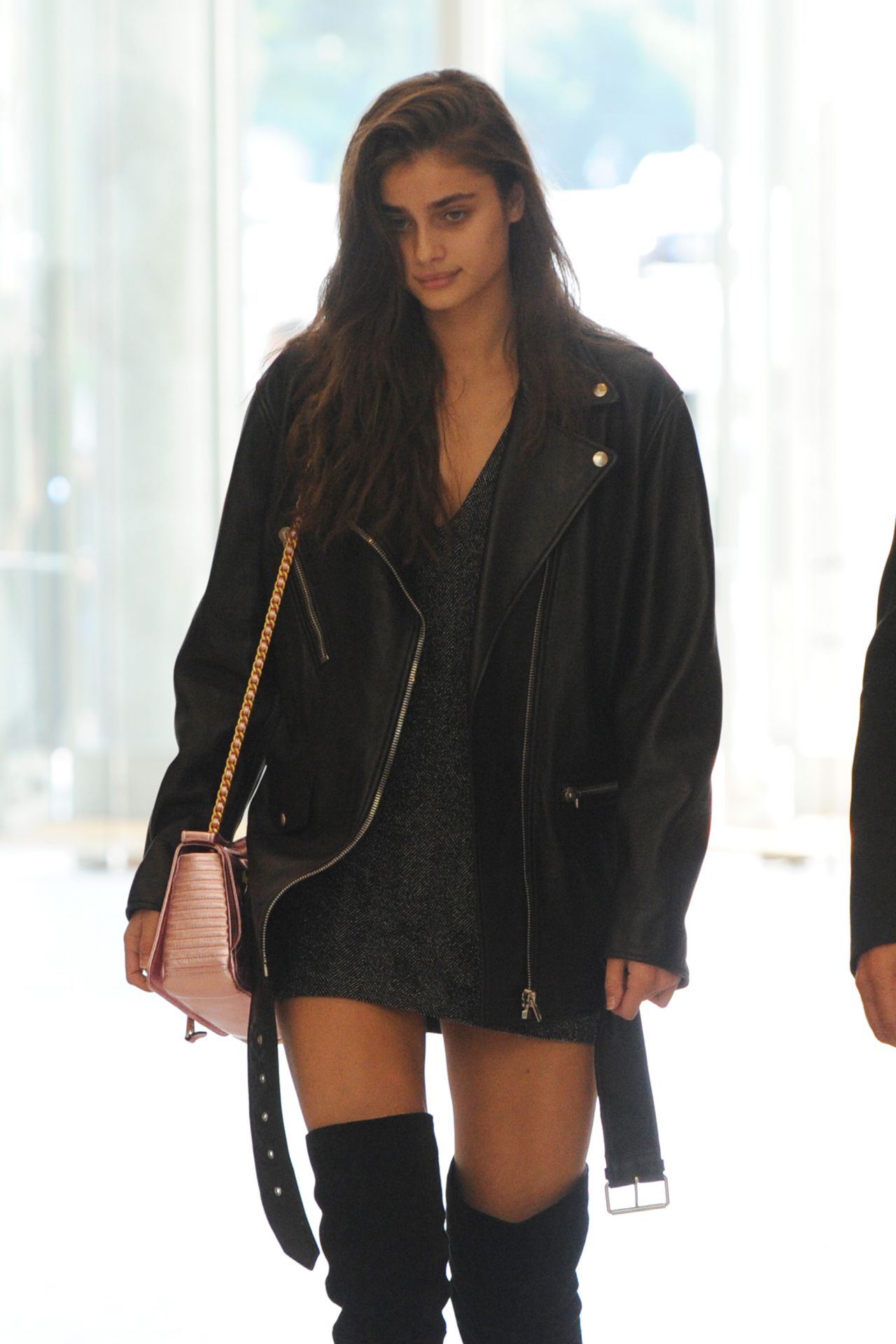 Taylor Marie Hill - Arriving at the Versache Show in Milan 09/22/2017