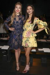 Victoria Justice – Marchesa Fashion Show in New York 09/13/2017