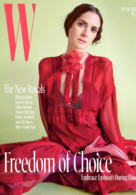 Winona Ryder - W Magazine, October 2017 Cover and Photo