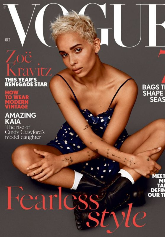 Zoe Kravitz - Vogue UK October 2017 Issue