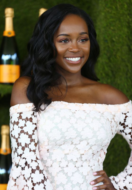 Aja Naomi King – Veuve Cliquot Polo Classic 2017 in Los Angeles