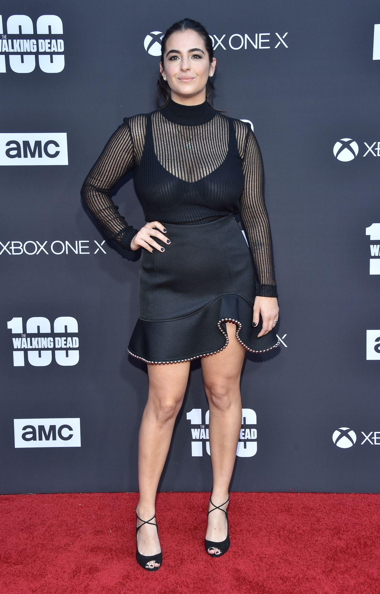 Alanna Masterson The Walking Dead Tv Show Premiere In