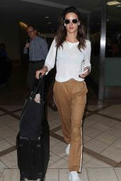 Alessandra Ambrosio in Travel Outfit at LAX Airport in LA 10/11/2017