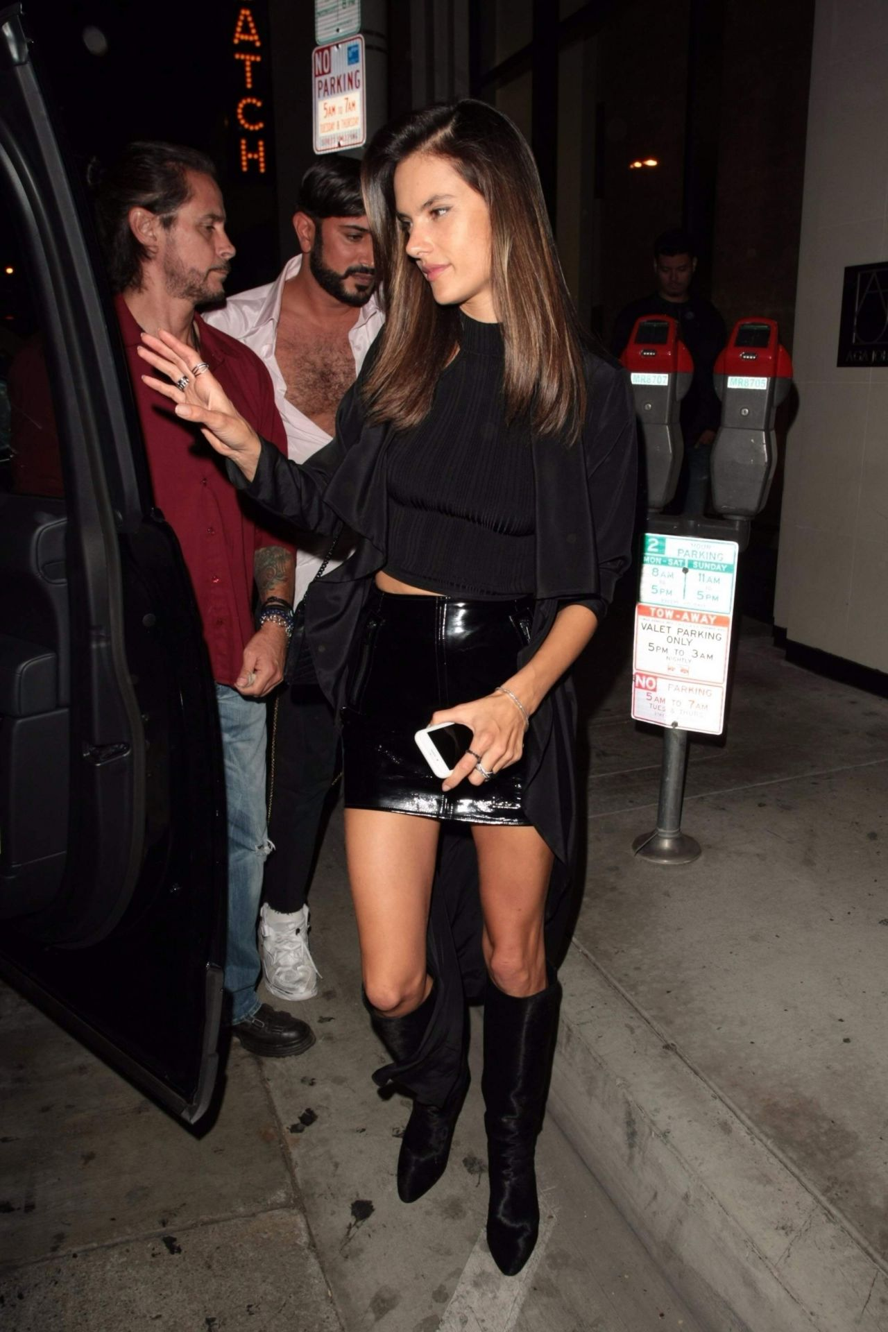 Alessandra ambrosio night out style west hollywood