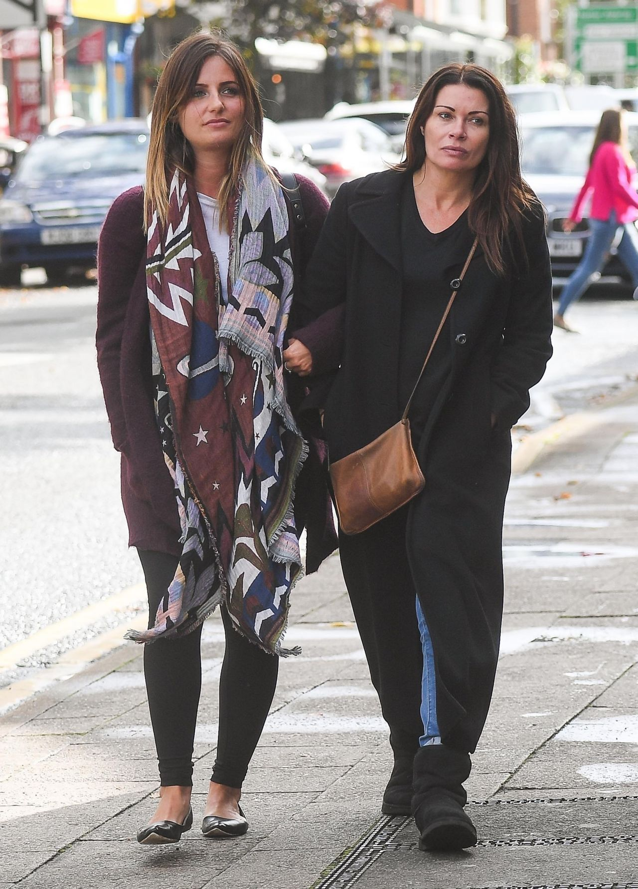 Alison king out with a female friend in alderley edge cheshire