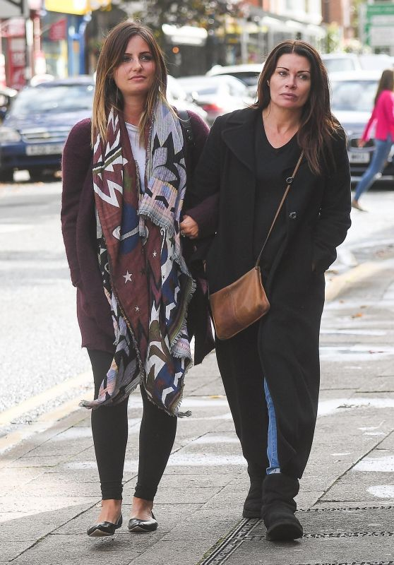 Alison King - Out With a Female Friend in Alderley Edge Cheshire 10/02/2017