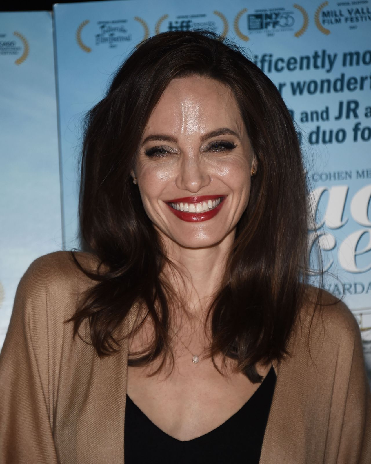 """Angelina Jolie at """"Faces Places"""" Premiere in West Hollywood"""