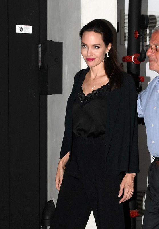 Angelina Jolie - Leaves Umeda Sushi Restaurant in Los Angeles 10/23/2017