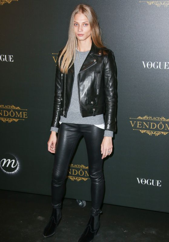 Anna Selezneva – Vogue Party at PFW in Paris 10/01/2017