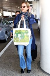 Annette Bening in Travel Outfit at LAX in Los Angeles 10/13/2017