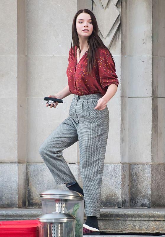Anya Taylor-Joy - Leaving a School Building in Philadelphia 10/02/2017