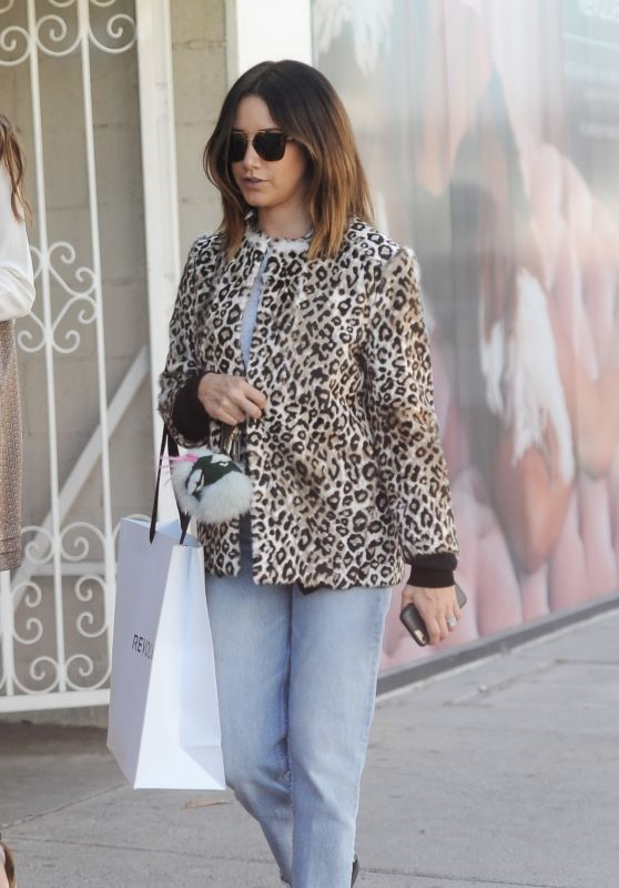 Ashley Tisdale Casual Style - Shopping at Revolve in West Hollywood