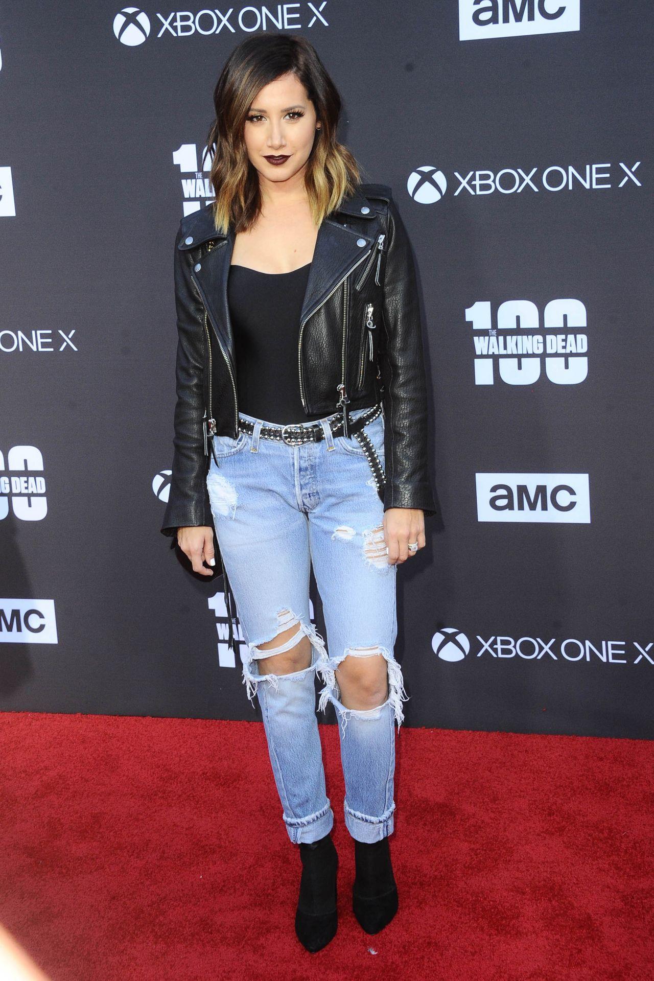 Ashley Tisdale The Walking Dead Tv Show Premiere In