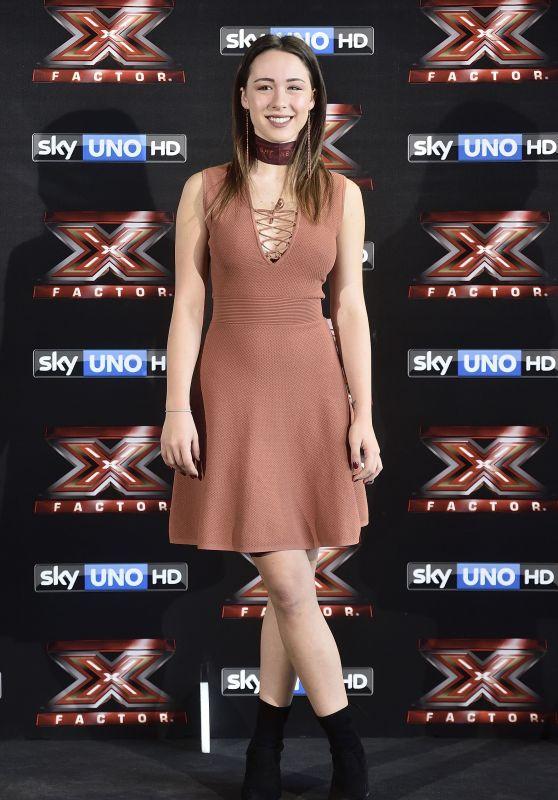 "Aurora Ramazzotti - ""X Factor"" TV Show Photocall in Milan, Italy 10/24/2017"