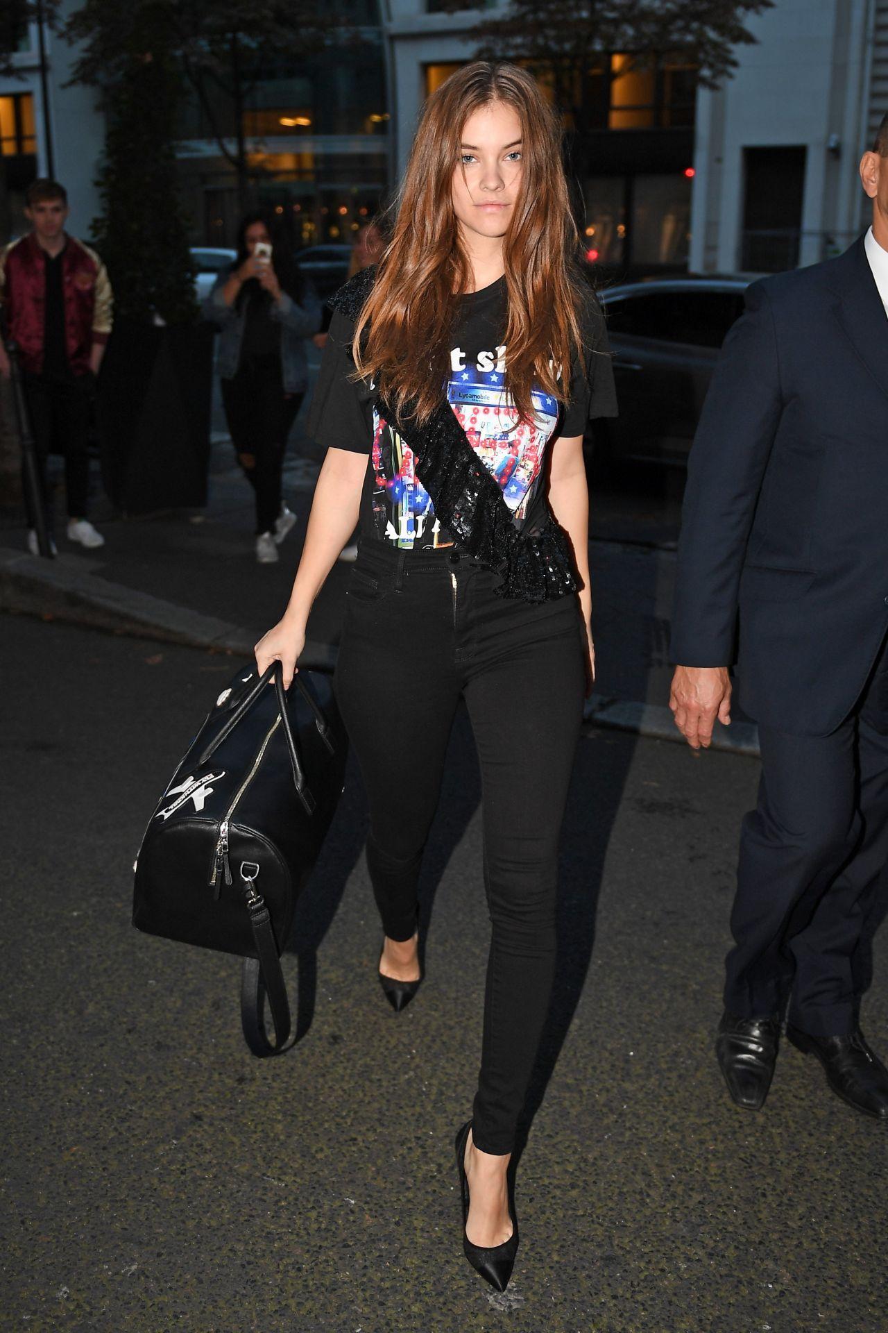 Barbara Palvin - Arriving at Her Hotel in Paris 09/30/2017