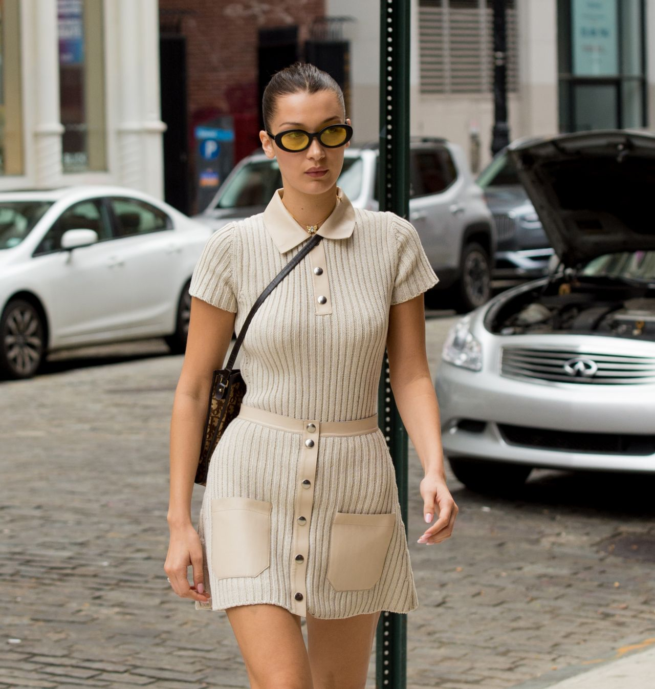 Bella Hadid Cute Style - Out in NYC 10/11/2017