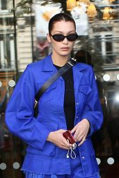 Bella Hadid - Leaving Her Hotel in Paris 10/03/2017