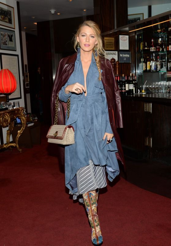 """Blake Lively Style - Leaving a Special Event for """"All I See Is You"""" in NYC"""