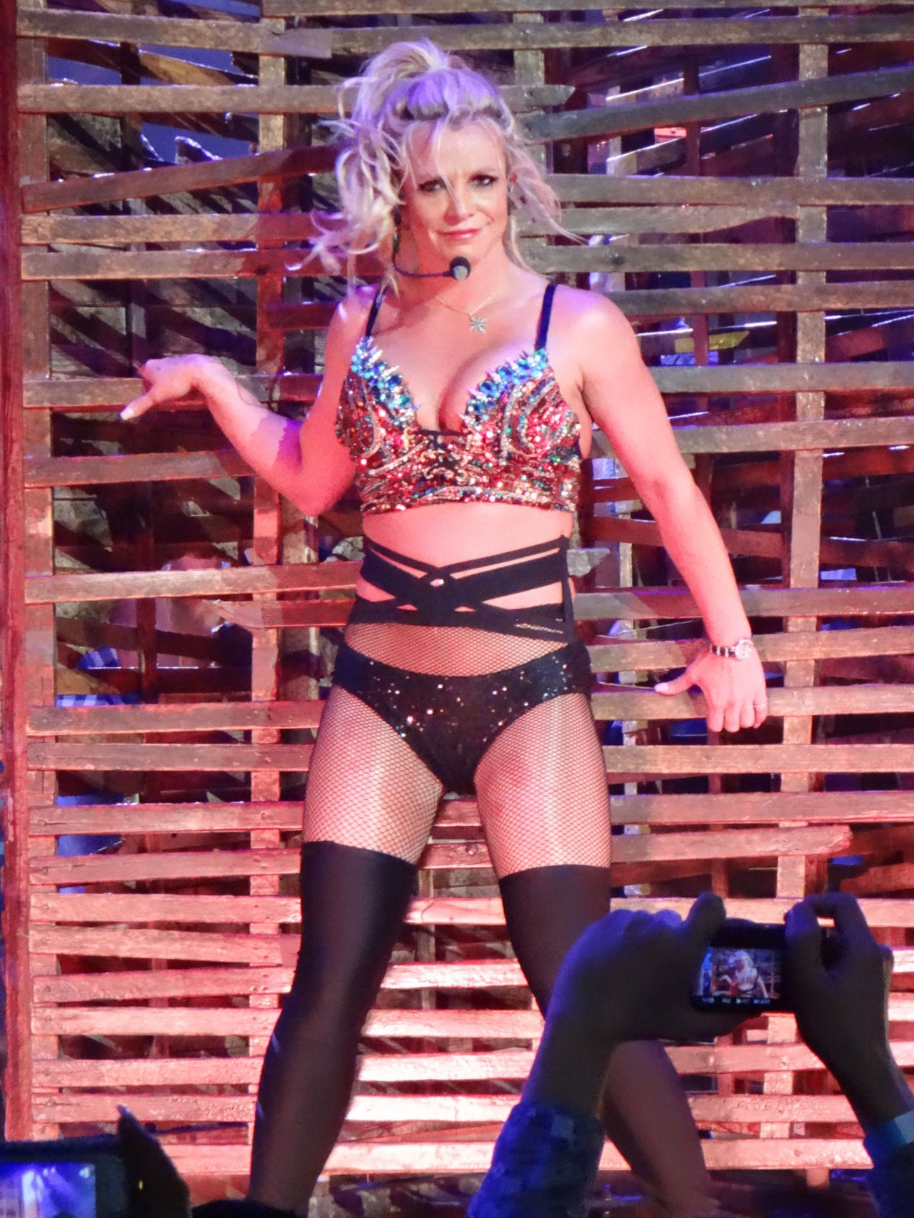 Britney Spears Performing At Planet Hollywood In Las