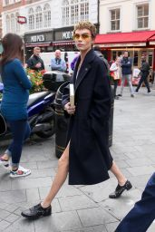 Cara Delevingne - Arrives at Global Radio in London 10/04/2017