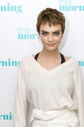 """Cara Delevingne at """"This Morning"""" TV Show in London 10/09/2017"""