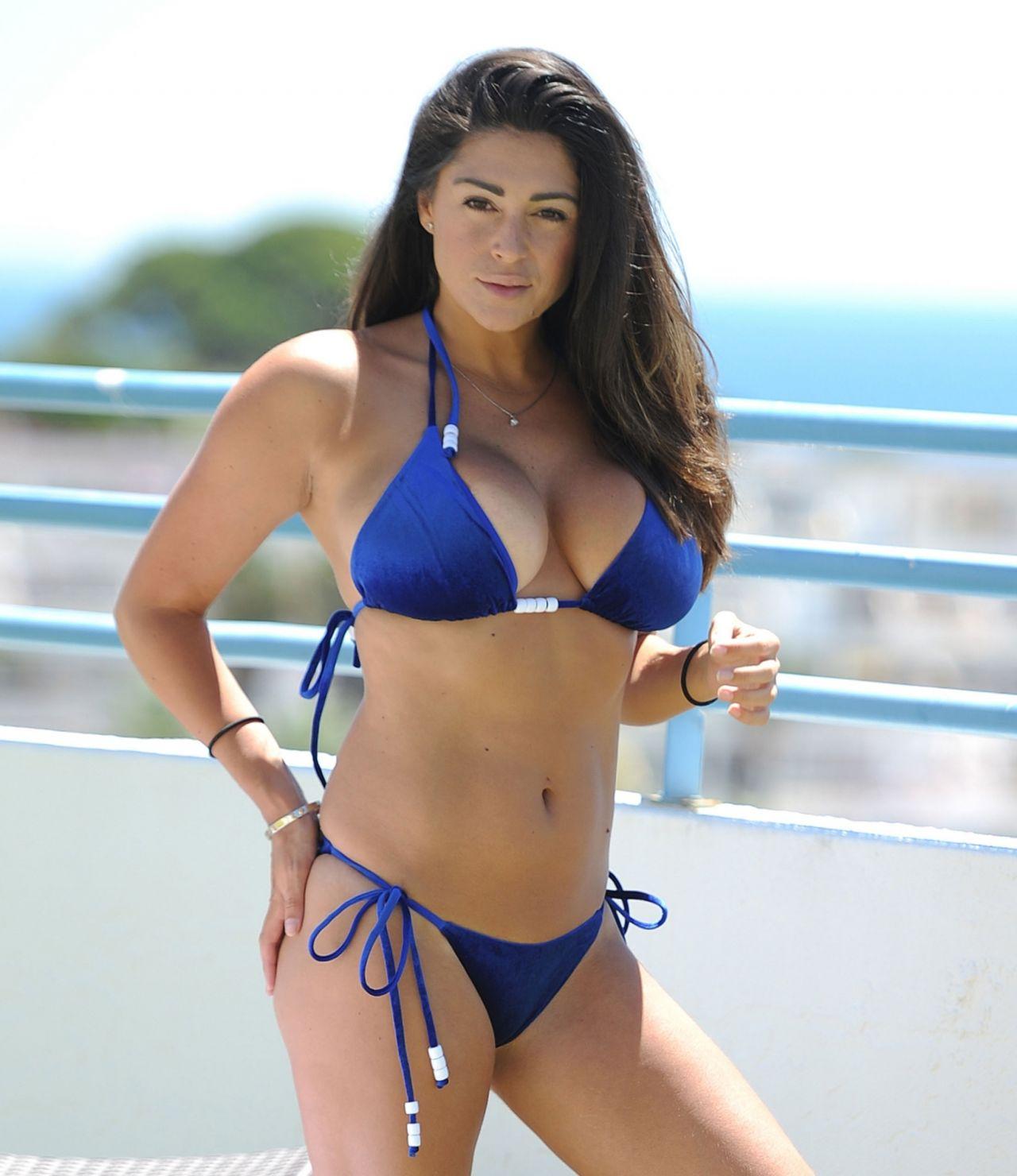 Casey Batchelor in Blue Bikini in Cyprus Pic 2 of 35