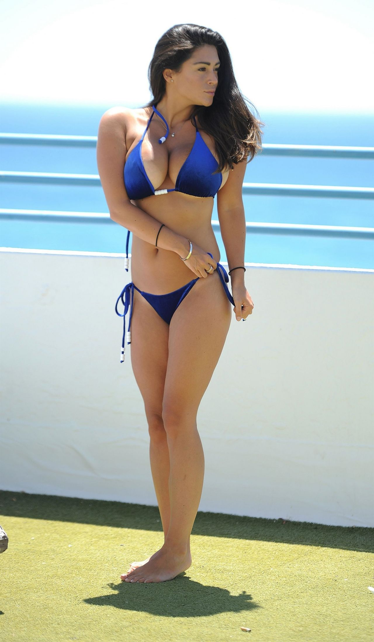 Casey Batchelor in a Blue Bikini - Cyprus 10/15/2017