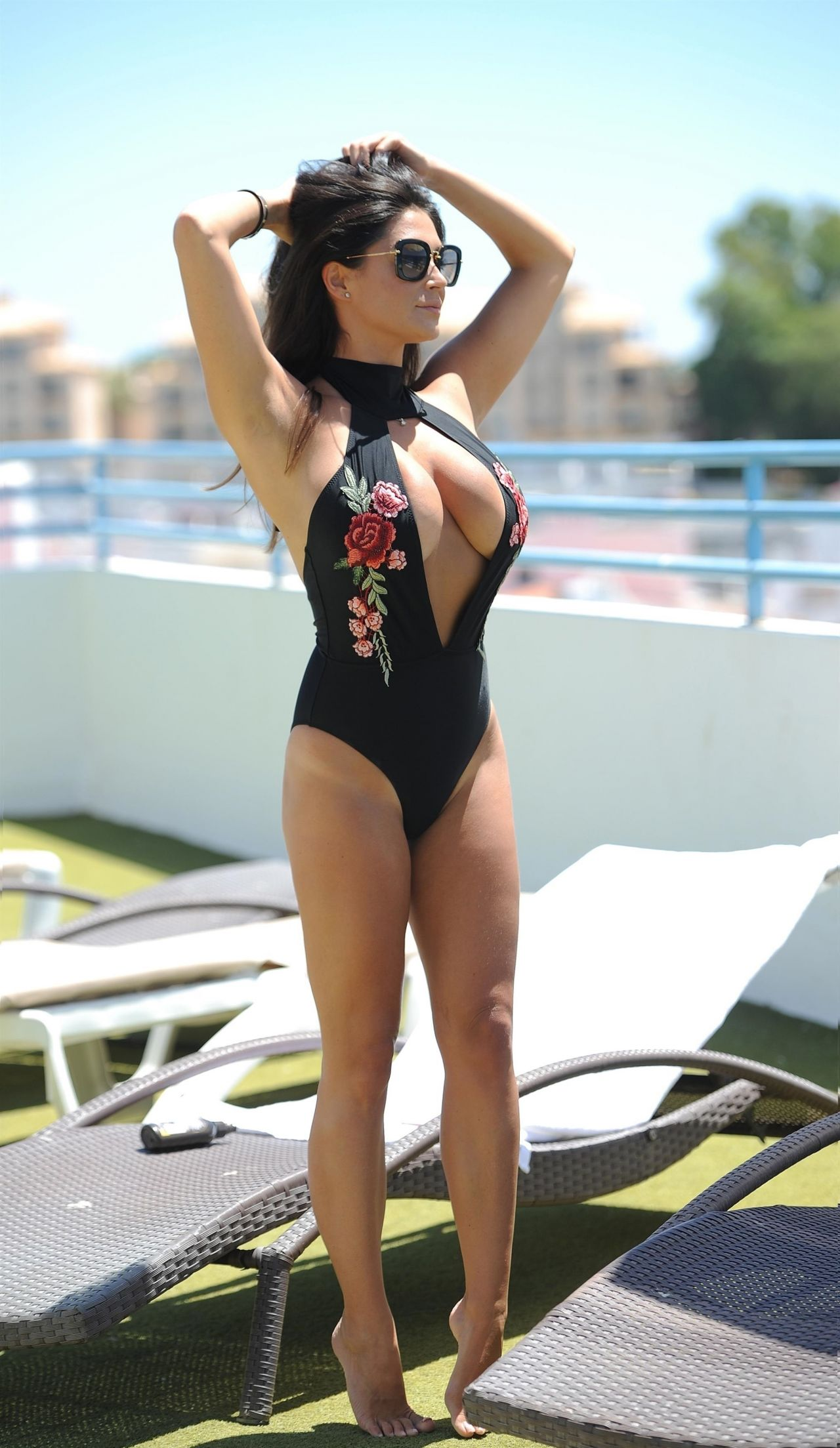 Casey Batchelor in Swimsuit at a yoga Retreat in Cyprus 10/21/2017