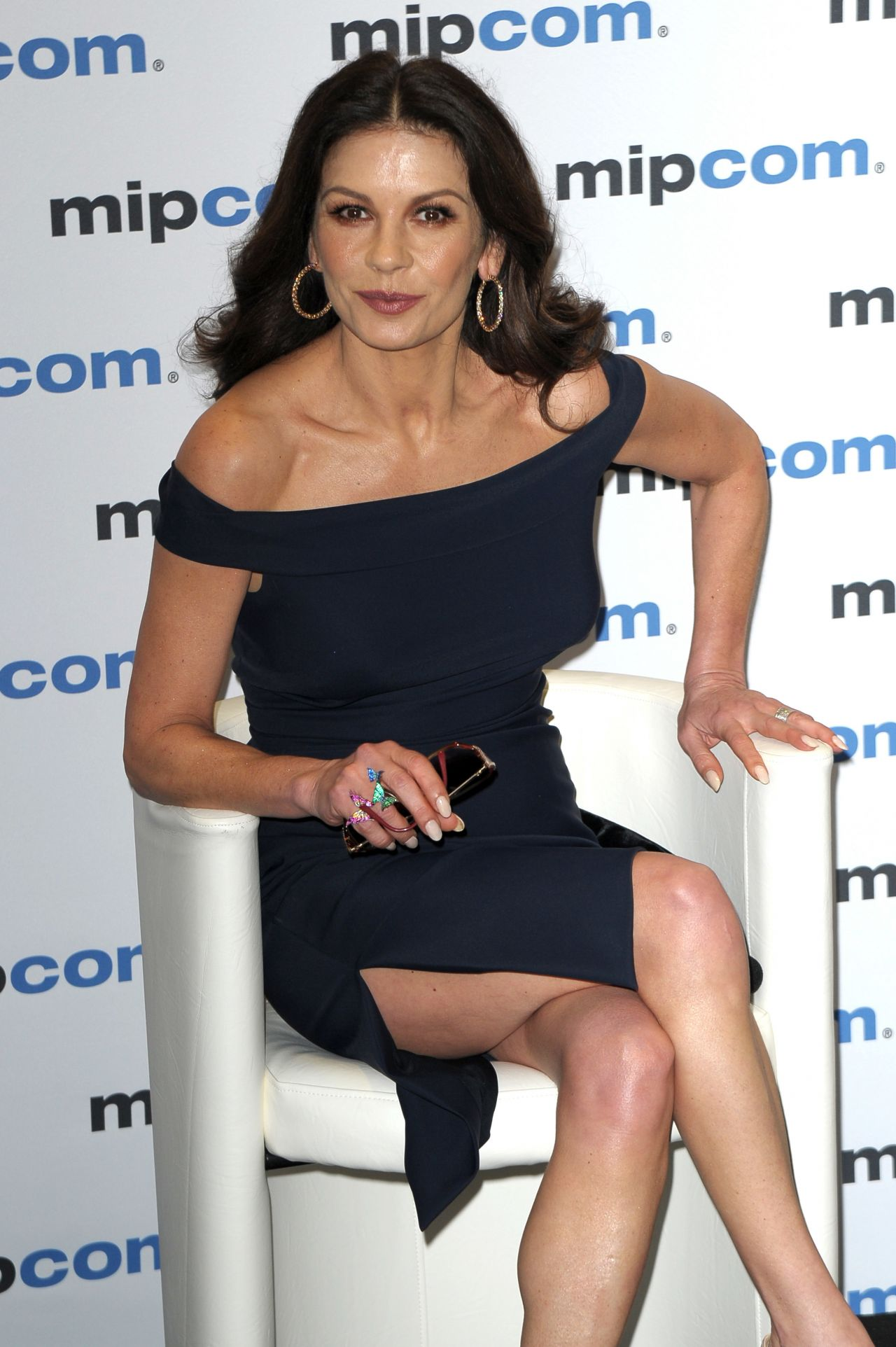 "Catherine Zeta-Jones - ""Cocaine Godmother"" Press Conference at MIPCOM 2017 in Cannes"