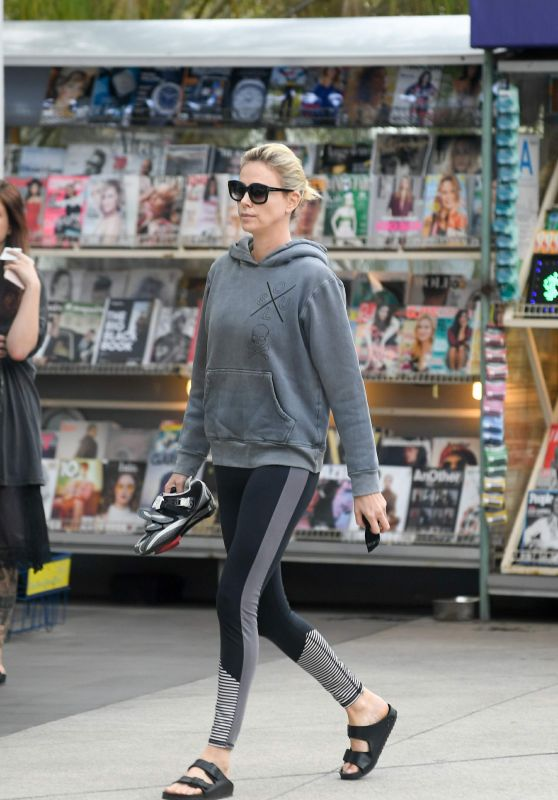 Charlize Theron - Heads to SoulCycle in LA 10/30/2017