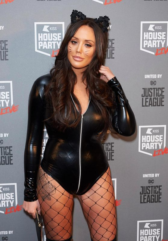 Charlotte Crosby - KISS FM Haunted House Party in London 10/26/2017
