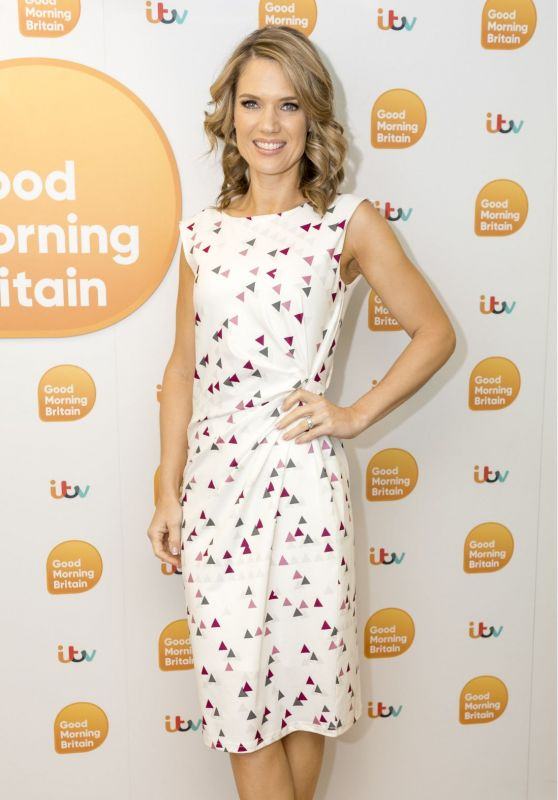 Charlotte Hawkins - Good Morning Britain TV Show in London 10/04/2017
