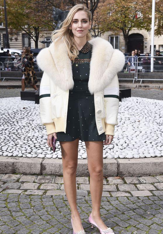 Chiara Ferragni – Miu Miu Fashion Show in Paris 10/03/2017