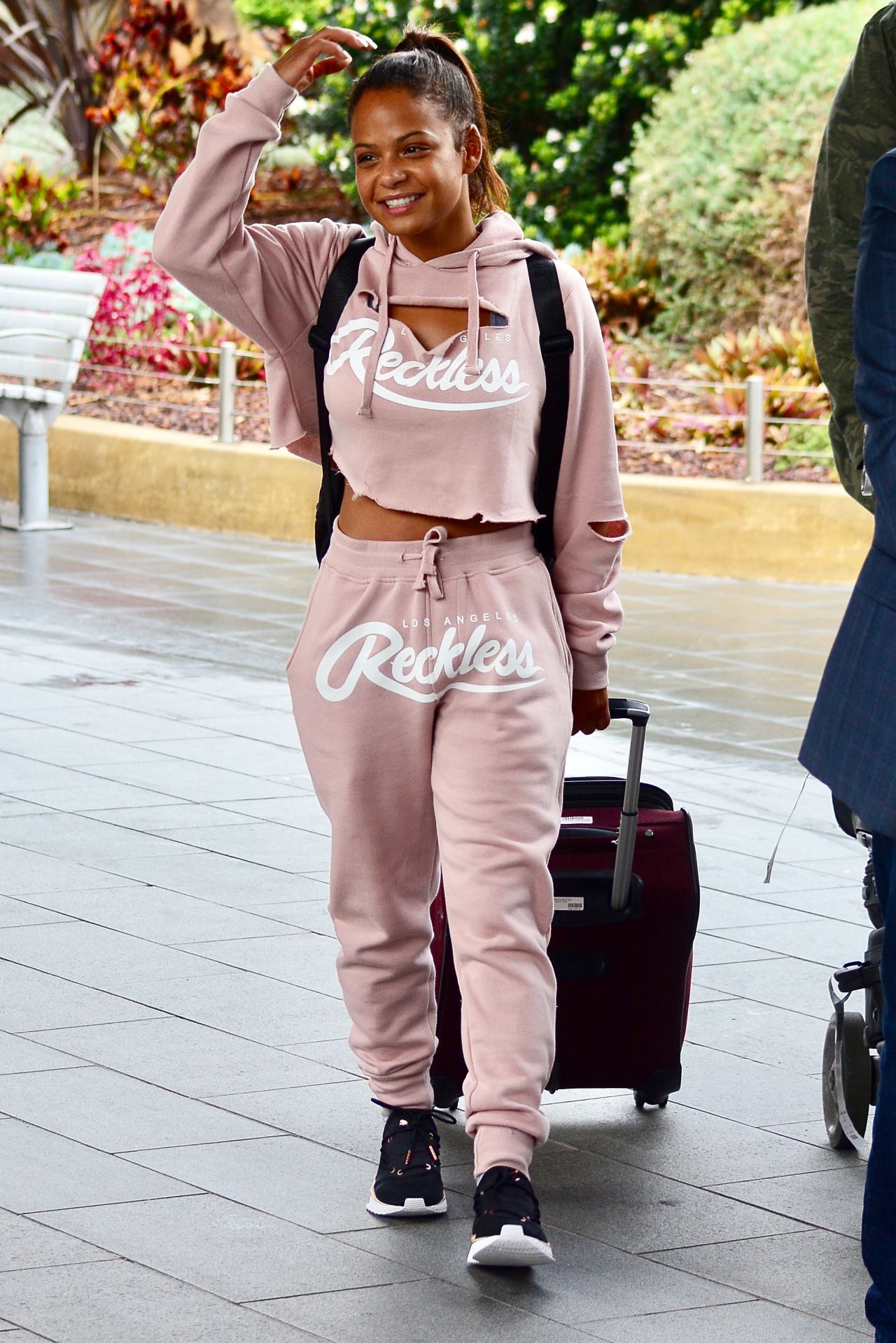 Christina Milian in Comfy Travel Outfit - Arrives in Sydney 10/11/2017