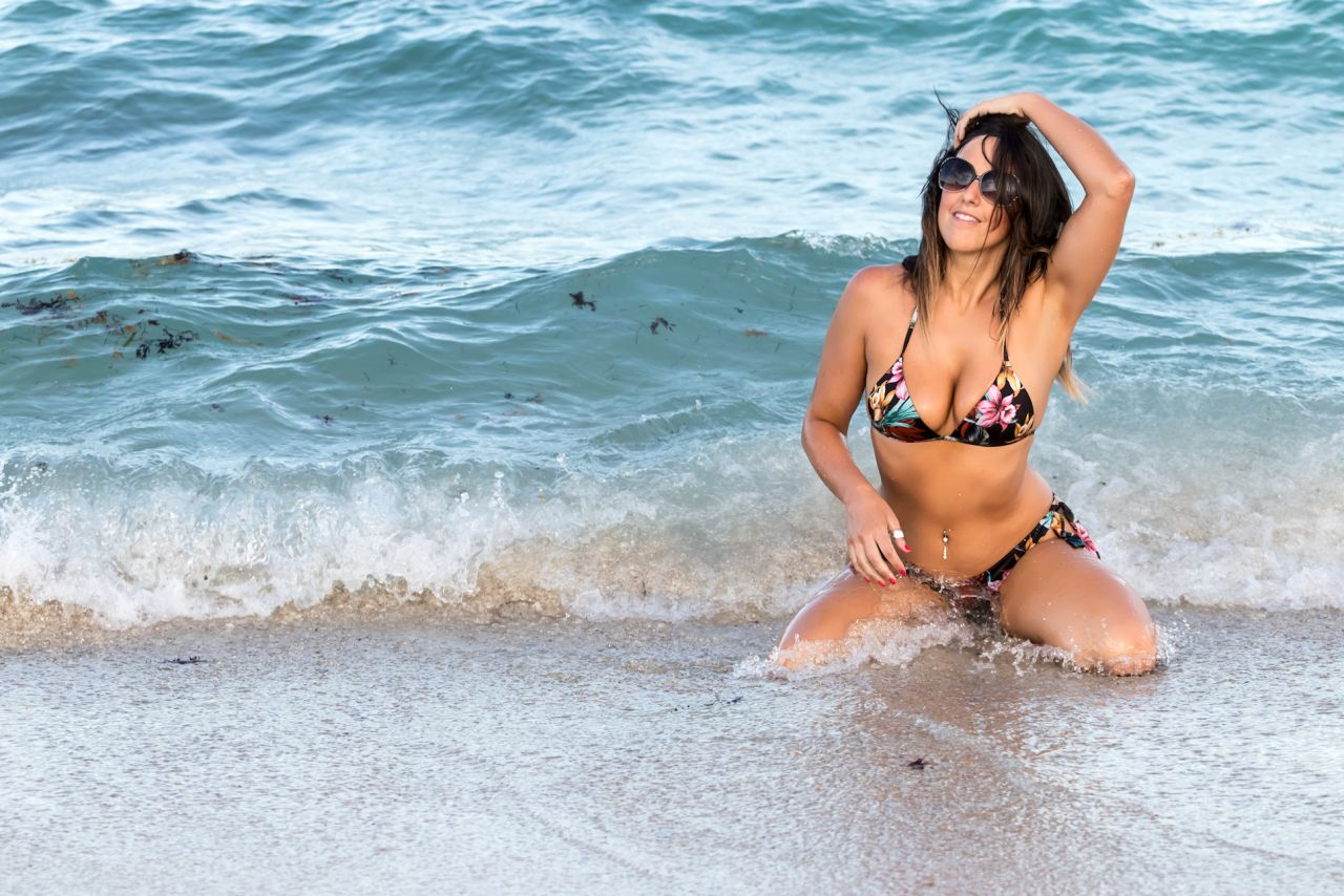 Claudia Romani in Bikini on South Beach in Miami 2 Pic 1 of 35