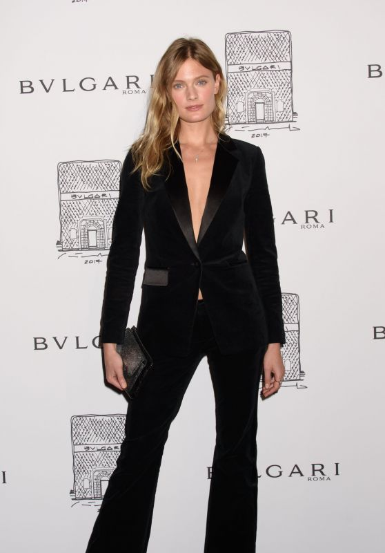 Constance Jablonski – Bulgari Flagship Store Opening Celebration in New York 10/20/2017
