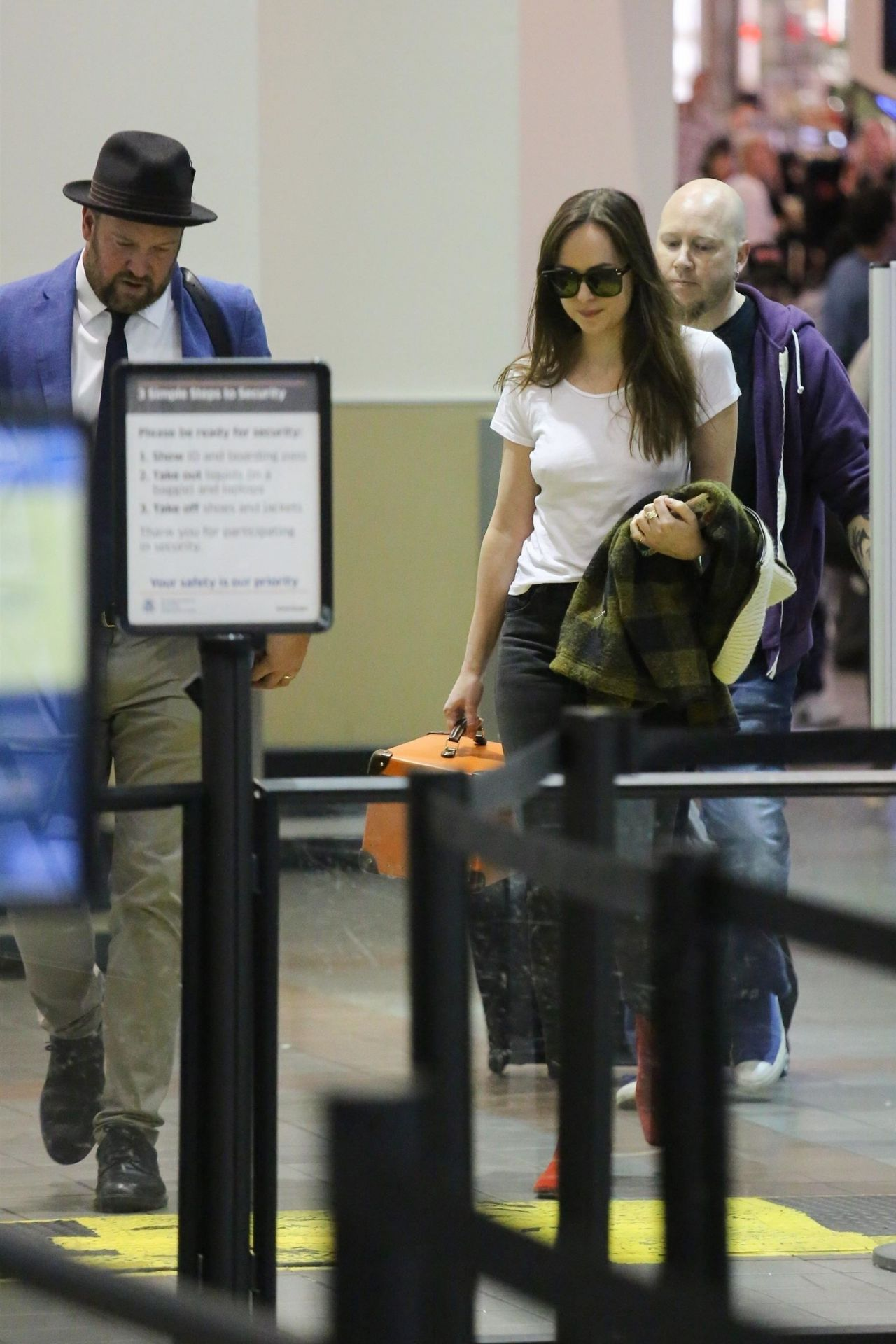 Dakota Johnson Street Style - LAX Airport in LA 10/28/2017