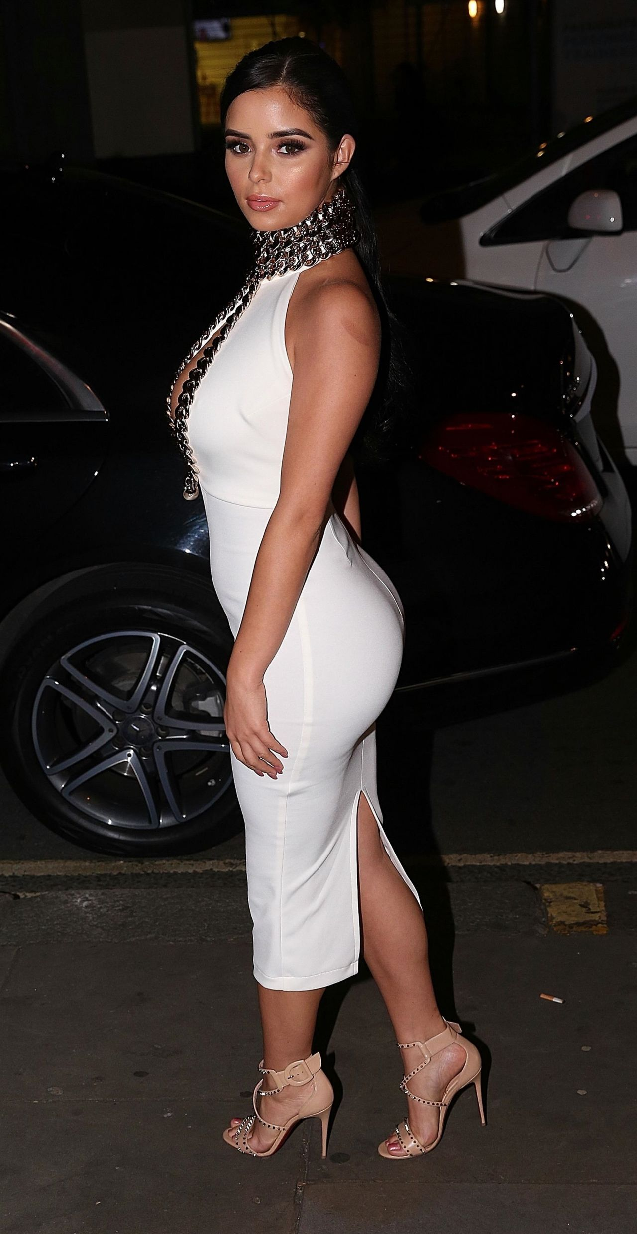 Demi Rose Night Out Style - Mayfair, London 10242017-5568