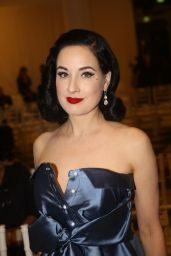 Dita Von Teese – Alexis Mabille Fashion Show in Paris 09/29/2017