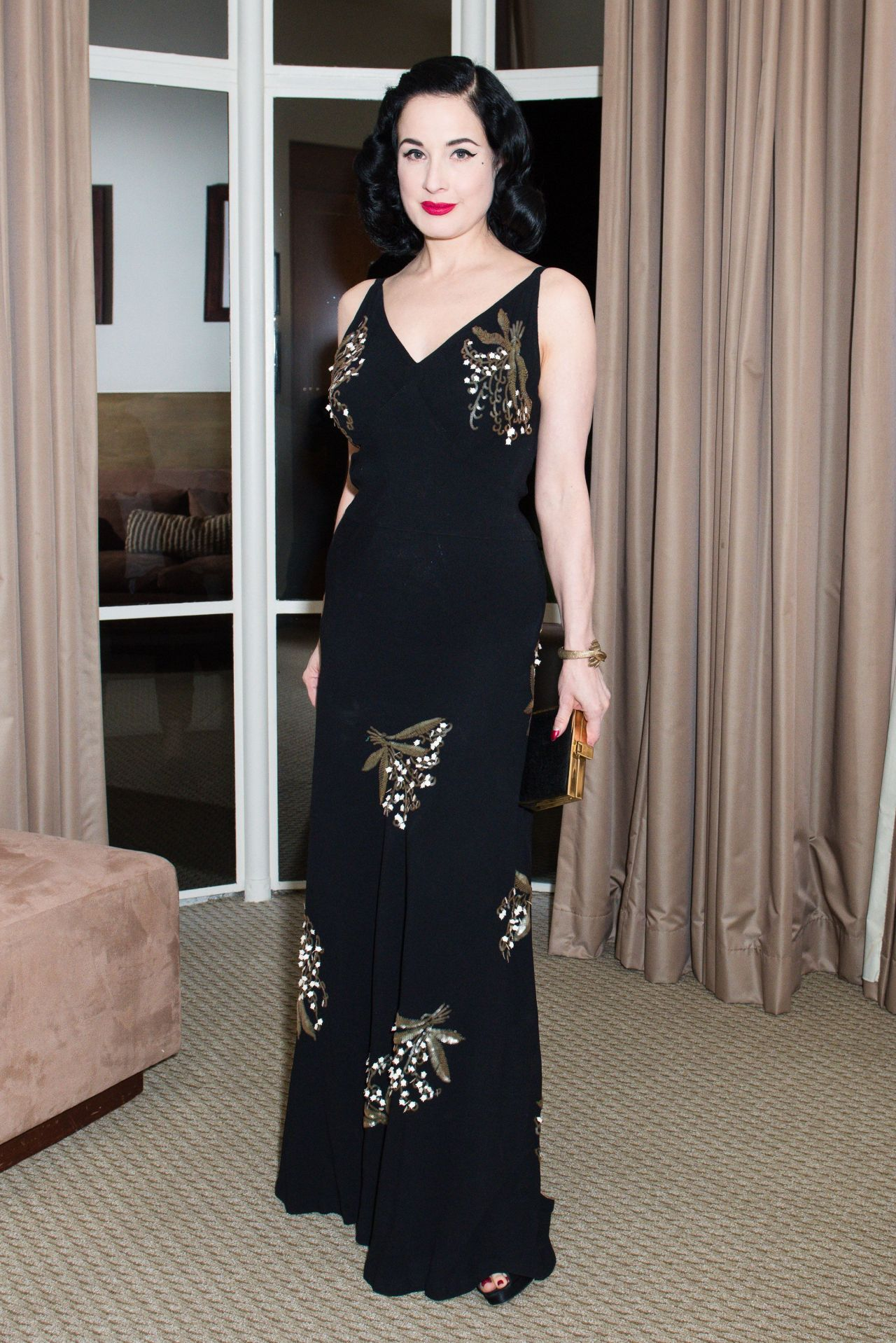 c2f1c85149b6 Dita Von Teese – Valentino and InStyle Cocktail Party in Los Angeles