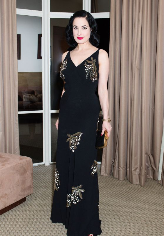 Dita Von Teese – Valentino and InStyle Cocktail Party in Los Angeles