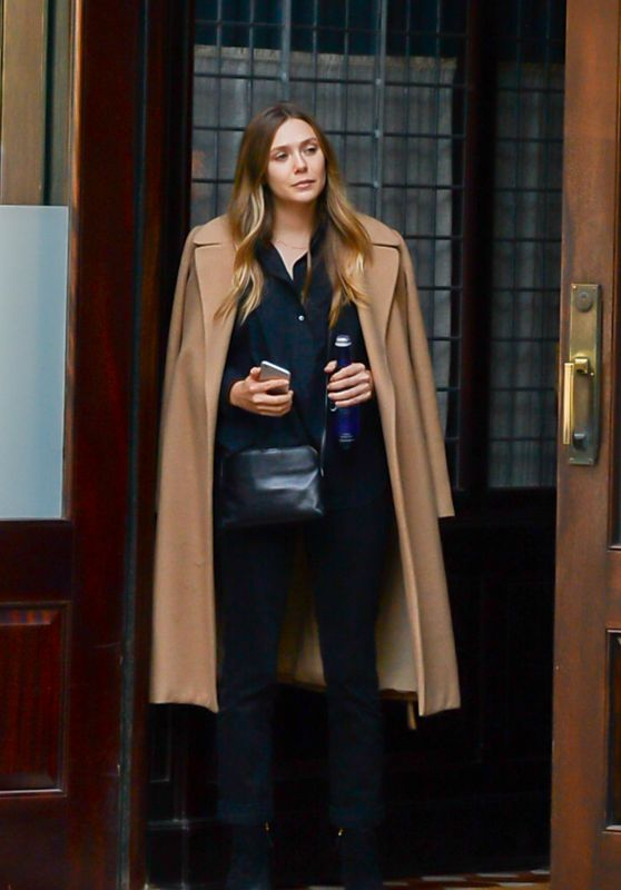 Elizabeth Olsen in Fall Outfit - Steps Out For a Stroll in Soho, NYC