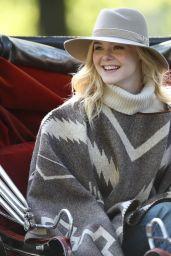 Elle Fanning - On the Set of Woody Allen Film in NYC 10/12/2017