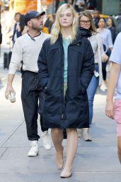 Elle Fanning - Woody Allen Film Set in NYC 10/05/2017