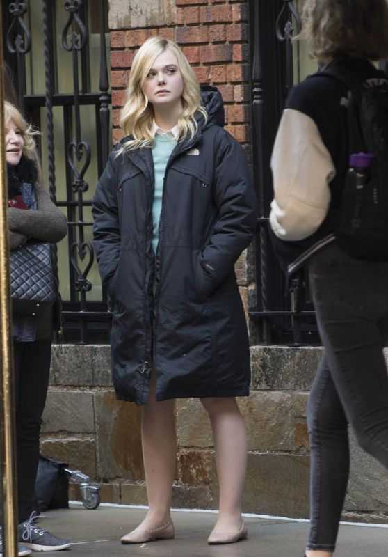 Elle Fanning - Woody Allen Film Set in NYC 10/18/2017