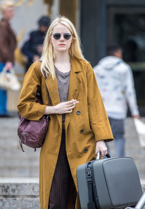 "Emma Stone - Shooting Scenes on the Set of ""Maniac"" in NYC 10/23/2017"