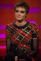 Emma Thompson, Claire Foy and Cara Delevingne - Graham Norton Show in London 10/26/2017