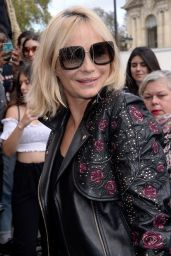 Emmanuelle Beart – Elie Saab Fashion Show in Paris 09/30/2017