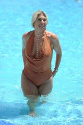 Frankie Essex in Swimsuit - Poolside in Marbella 10/09/2017